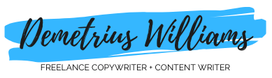 Demetrius Williams Freelance Copywriter Logo